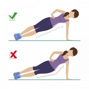 Bocný plank-technika