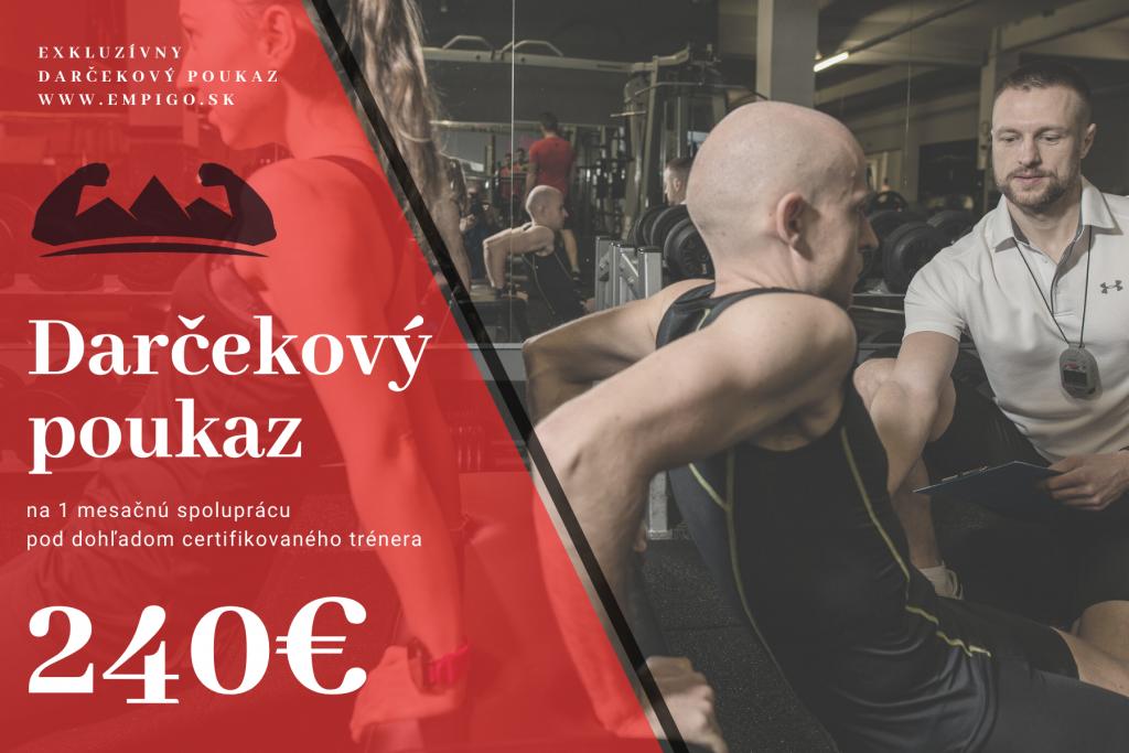 Darčekový poukaz-Osobný fitness tréner Košice